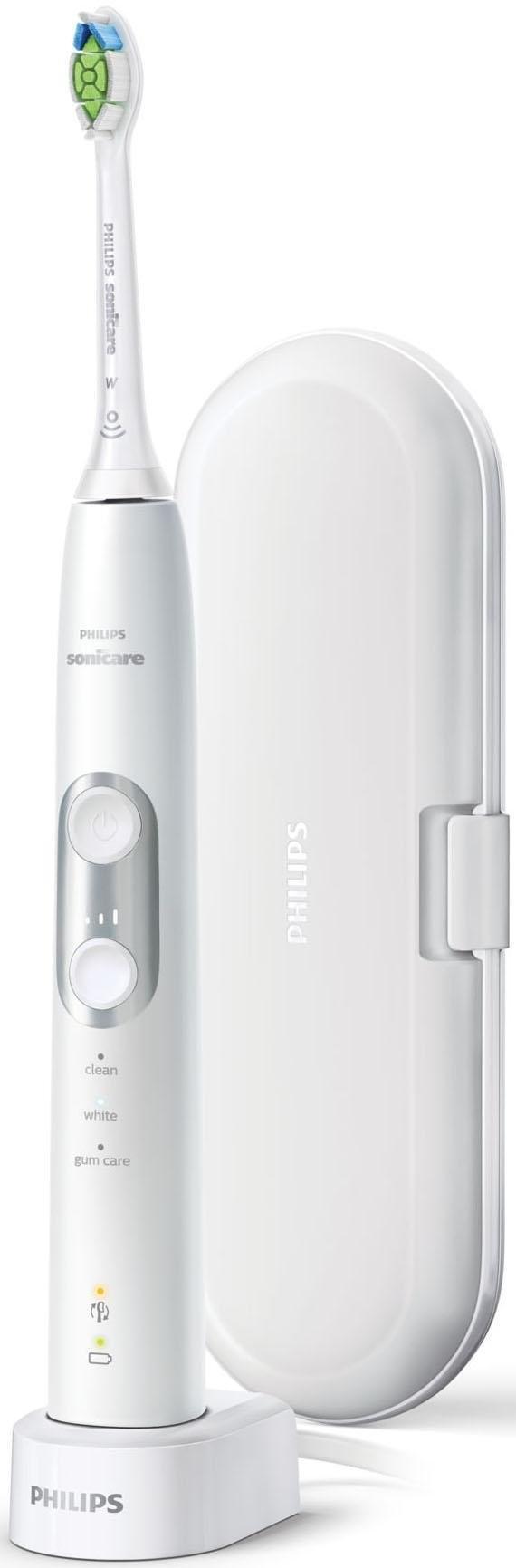 Philips Sonicare elektrische tandenborstel HX6877/28 ProtectiveClean 6100, ultrasone tandenborstel, met 3 poetsprogramma's inclusief reisetui & oplader voordelig en veilig online kopen