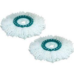 leifheit mop-opzet reserve-kop disc mop (2 stuks) wit