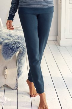 s.oliver red label beachwear joggingbroek met noorse motieven blauw