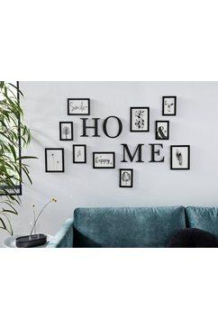my home fotolijstje fotolijstjes, zwart, met een opschrift, fotoformaat 10x15 cm, 13x18 cm en 15x20 cm zwart