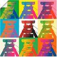 artland artprint productietoren popart in vele afmetingen  productsoorten -artprint op linnen, poster, muursticker - wandfolie ook geschikt voor de badkamer (1 stuk) multicolor