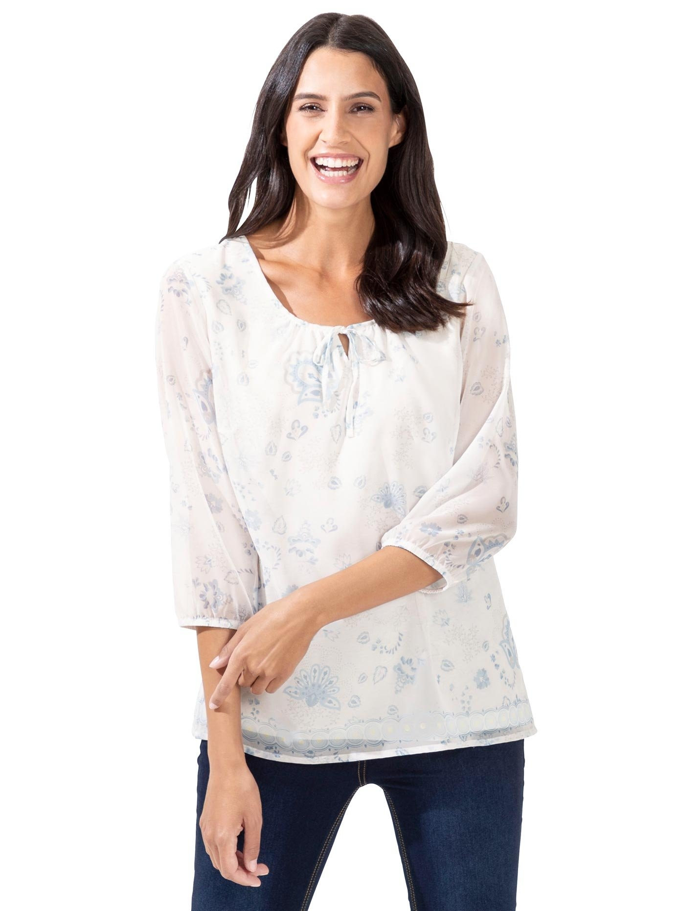 Classic Inspirationen gedessineerde blouse voordelig en veilig online kopen