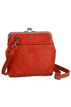 harbour 2nd mini-bag rosalie van leer met kenmerkende merk-anker-label en sierhanger rood