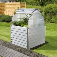 konifera hoge kweekbak »balcony planter«, bxdxh: 120x120x169 cm zilver