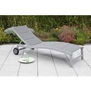merxx ligstoel san marino aluminium (1 stuk) grijs