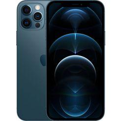 apple smartphone iphone 12 pro, 128 gb, zonder stroom-adapter en hoofdtelefoon, compatibel met airpods, airpods pro, earpods hoofdtelefoon blauw