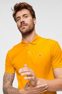 tommy jeans poloshirt tjm tommy classics solid polo oranje