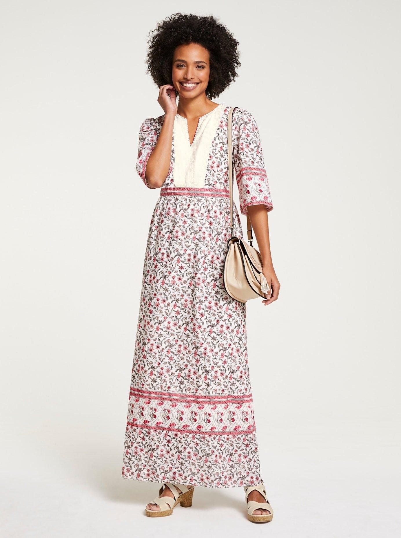 LINEA TESINI by Heine maxi-jurk Gedessineerde jurk - verschillende betaalmethodes