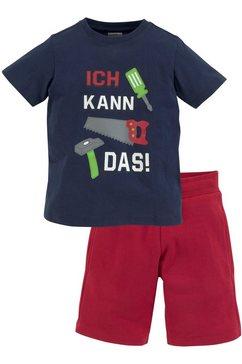 kidsworld shirt  short (set, 2-delig) blauw