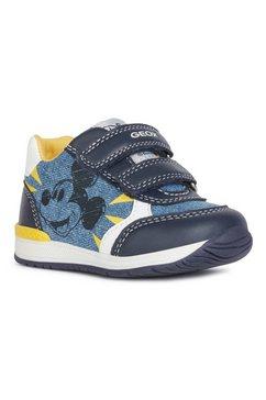geox kids babyschoentjes met twee klittenbandsluitingen blauw