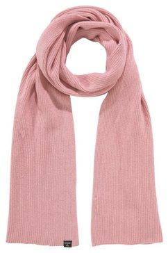 superdry gebreide sjaal tricot, ribbreisel roze