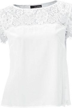 ashley brooke by heine zijden blouse met kant wit