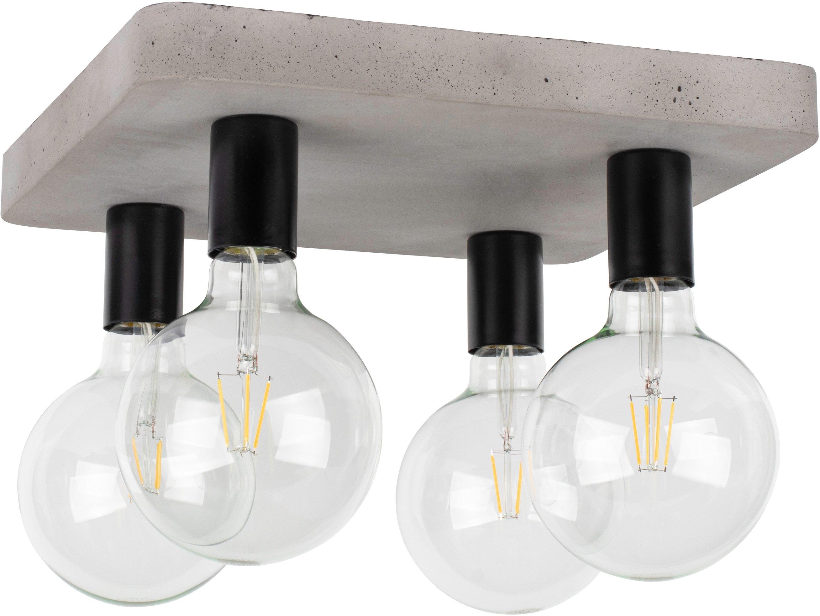 SPOT Light plafondlamp Voortaan Echt beton - met de hand gemaakt, natuurproduct - duurzaam, ideaal voor vintage-lampen, Made in Europe (1 stuk) online kopen op otto.nl