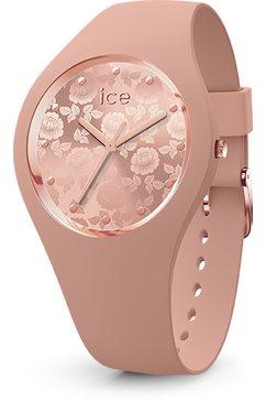 ice-watch kwartshorloge ice flower - blush chic, 019211 roze