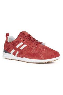 geox sneakers met speciale, gepatenteerde geox membraan rood