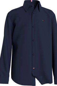 tommy hilfiger overhemd met lange mouwen blauw