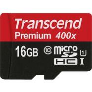 transcend »microsdxc-sdhc class 10 uhs-i« geheugenkaart zwart