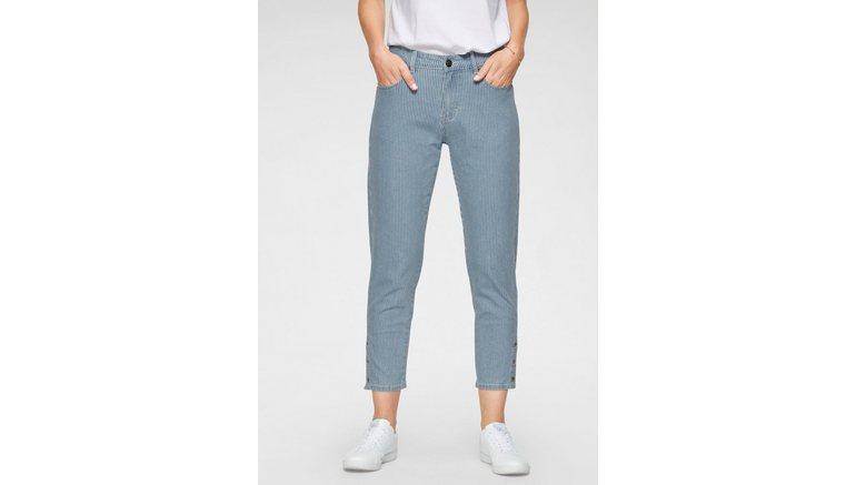 NAVIGAZIONE 7/8 jeans GLORIA met krijtstrepen