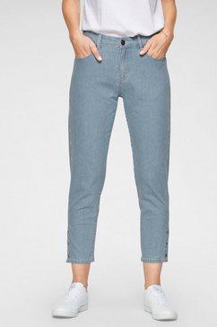 navigazione 7-8 jeans gloria met krijtstrepen blauw