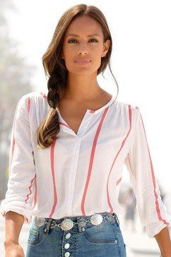 buffalo blouse met lange mouwen met streepdessin wit