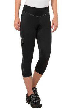 vaude fietsbroek active 3-4 pants zwart