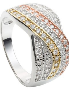 lady ring in tricolour-look