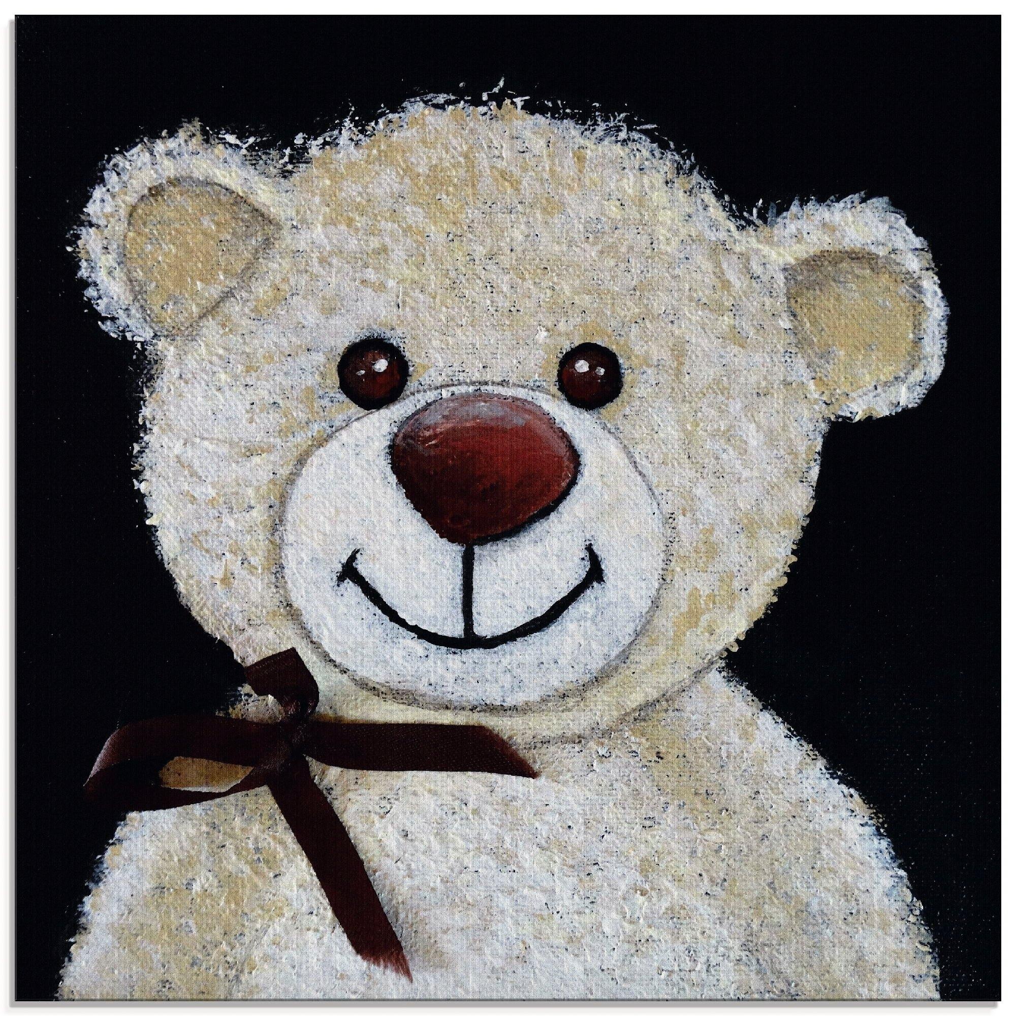 Artland print op glas »Teddybär« goedkoop op otto.nl kopen