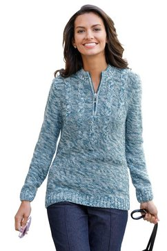 classic basics trui met staande kraag trui groen