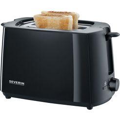 severin toaster »at 2287«, voor 2 sneetjes brood, 700 watt zwart