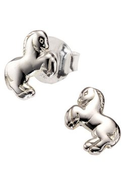 firetti oorstekers paard, glanzend design, gerodineerd zilver