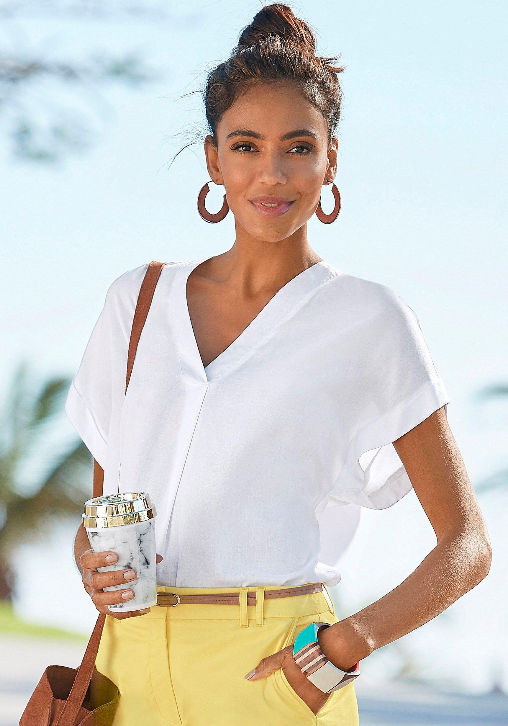 Vivance blouse met korte mouwen in losjes vallend model bestellen: 30 dagen bedenktijd