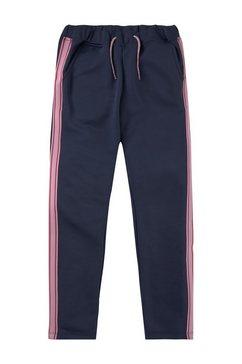 tom tailor joggingbroek »jogginghose mit gestreiftem tape« blauw