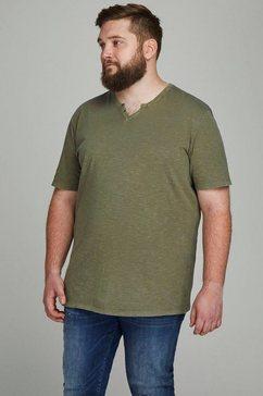 jack  jones shirt met v-hals »split v neck shirt« groen