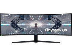 "samsung curved-gaming-monitor c49g94tssr, 124,5 cm - 49 "" wit"