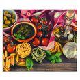 artland keukenwand italiaans mediterraan eten zelfklevend in vele maten - spatscherm keuken achter kookplaat en spoelbak als wandbescherming tegen vet, water en vuil - achterwand, wandbekleding van aluminium (1-delig) multicolor