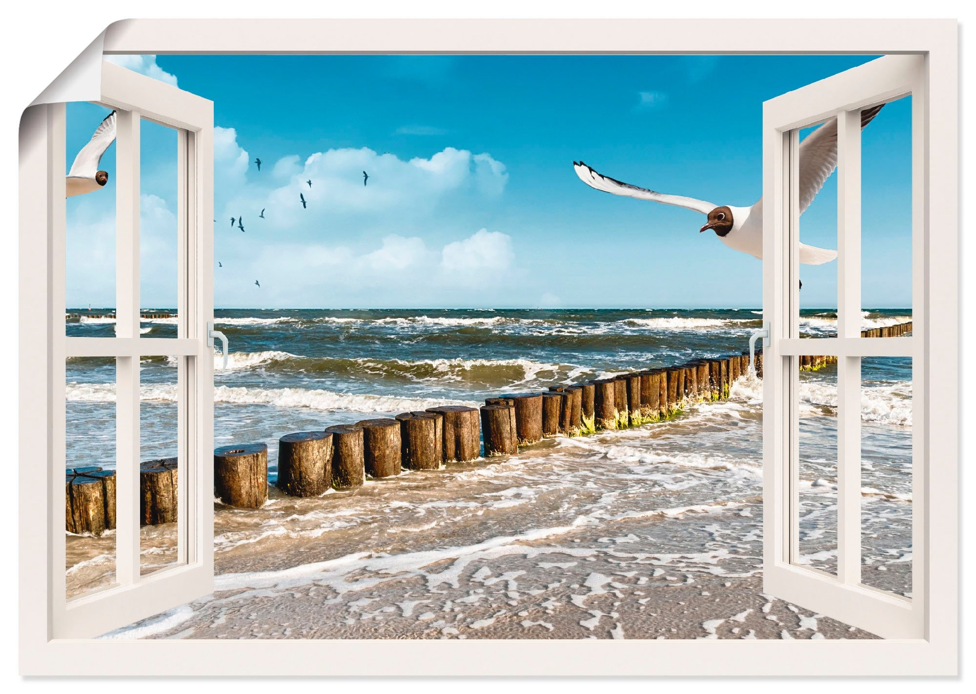 Artland artprint »Fensterblick - Ostsee« online kopen op otto.nl