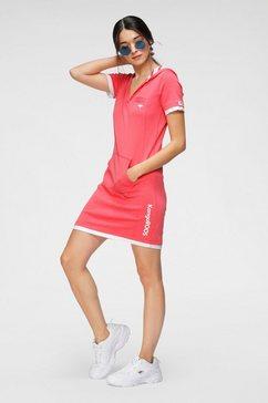 kangaroos sweat-jurk met capuchon roze