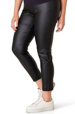 bsic by yesta legging alene prettig model in iets glanzend imitatieleer zwart