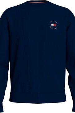 tommy hilfiger sweatshirt circle chest corp crewneck blauw