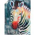 artland artprint prisma zebra ii in vele afmetingen  productsoorten - artprint van aluminium - artprint voor buiten, artprint op linnen, poster, muursticker - wandfolie ook geschikt voor de badkamer (1 stuk) grijs