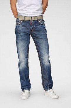 cipo  baxx straight jeans blauw