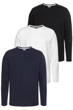 eastwind shirt met lange mouwen (set van 3) blauw