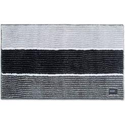 badmat »lines«, joop!, hoogte 20 mm, met antislip-coating, geschikt voor vloerverwarming grijs