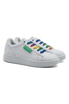 united colors of benetton sneakers met kleurrijke veters wit