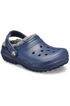 crocs pantoffels classic lined clog met warme, heerlijk zachte voering blauw