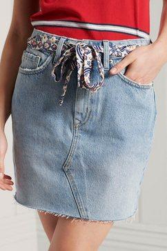 superdry jeansrok denim mini skirt blauw