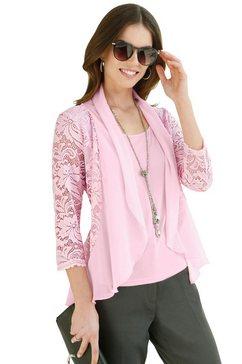lady shirt in 2-in-1-look roze