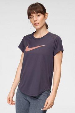 nike runningshirt »nike run icon clash (2) women's short-sleeve running top« paars