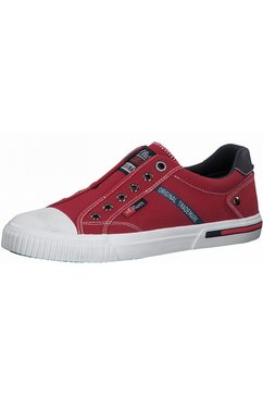 s.oliver sneakers in modieuze jeans-look rood