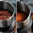 ade koffiemolen elektrische multifunctionele kruidenmolen ka1805 hakmolen, slagmaalwerk, 2 maalreservoirs met extra scherpe lemmeten zilver
